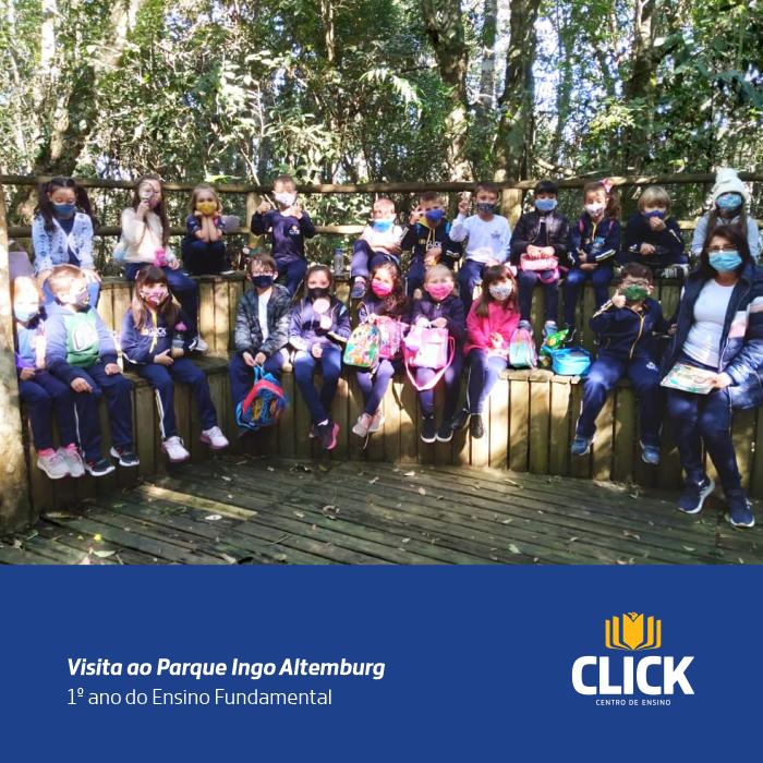 Alunos do primeiro ano realizam visita ao Parque Ingo Altemburg.