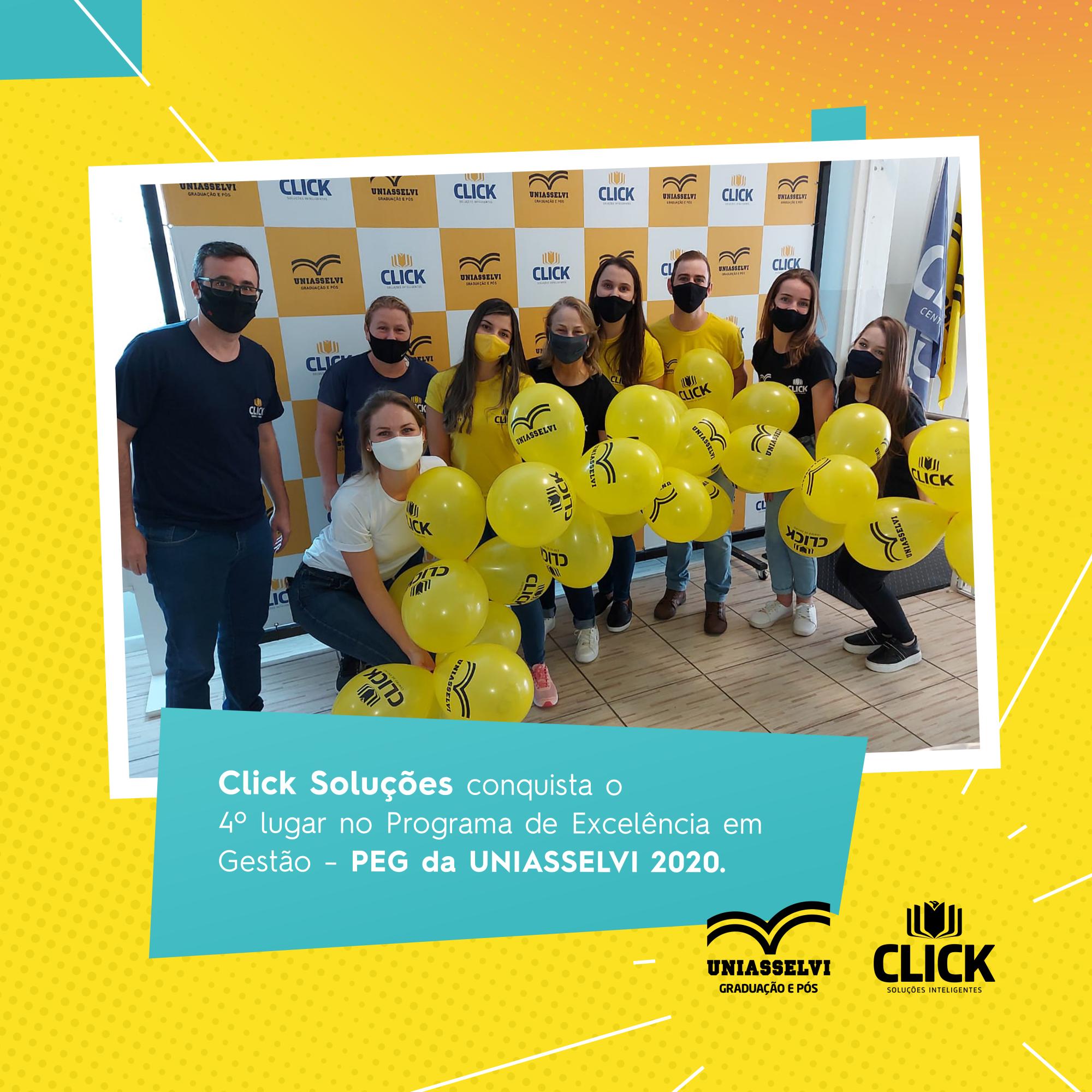 Click Soluções conquista o 4º lugar no Programa de Excelência em Gestão – PEG da UNIASSELVI 2020.