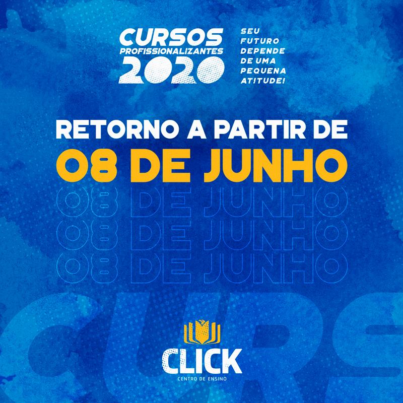 Click Soluções retoma seus cursos livres a partir de 08 de junho
