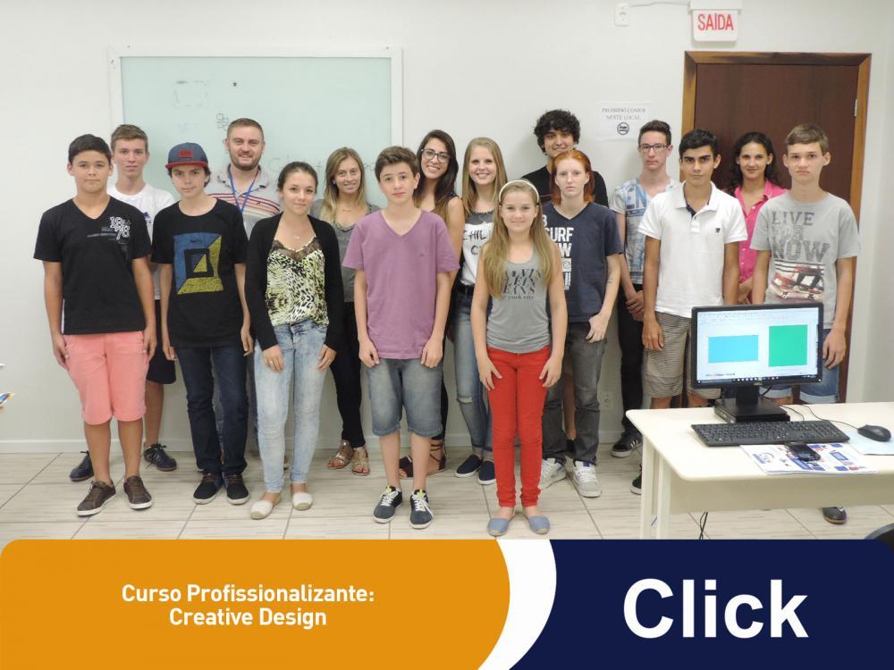 Ontem começaram mais dois cursos profissionalizantes da Click!
