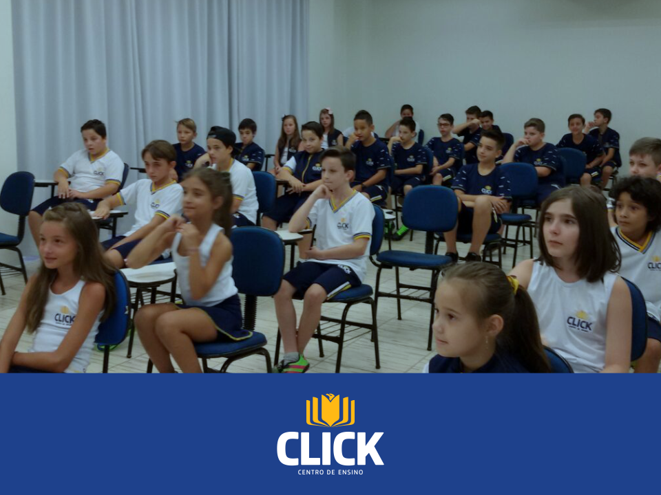 Início das aulas do Ensino Fundamental da Click - Centro de Ensino