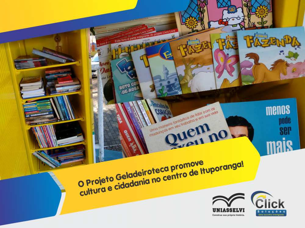 O Projeto Geladeiroteca promove cultura e cidadania no centro de Ituporanga!
