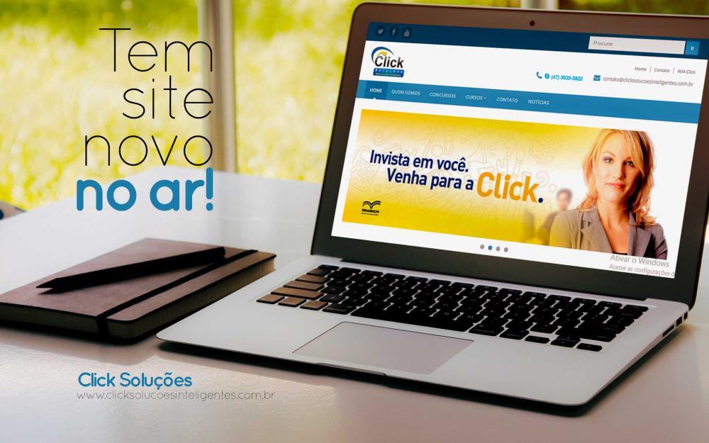 O site da Click está de cara nova