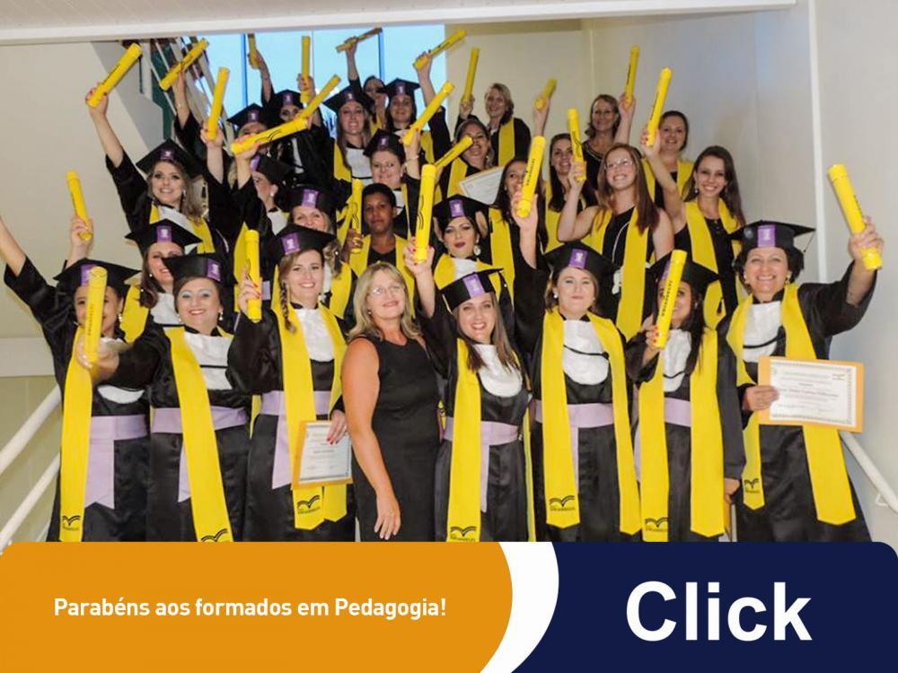 Parabéns aos formados em Pedagogia!