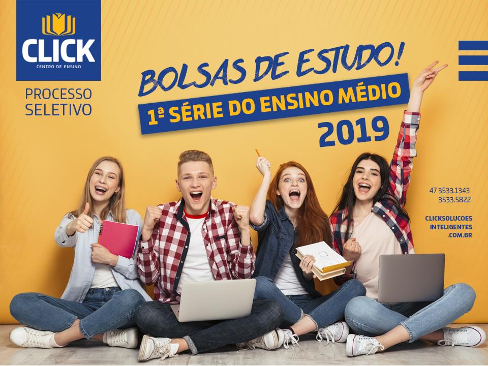Processo Seletivo para Bolsas de Estudo para a 1ª série do Ensino Médio/2019